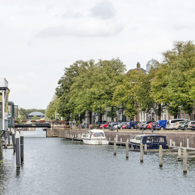 """""""Gorinchem old town and river"""" stock image"""