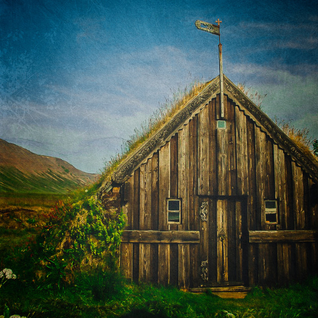 """""""Old house in Iceland"""" stock image"""