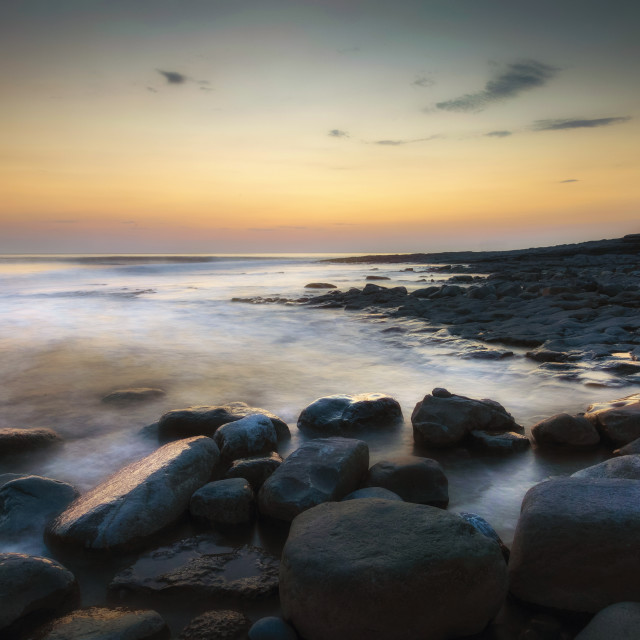 """Sunset at Nash Point"" stock image"
