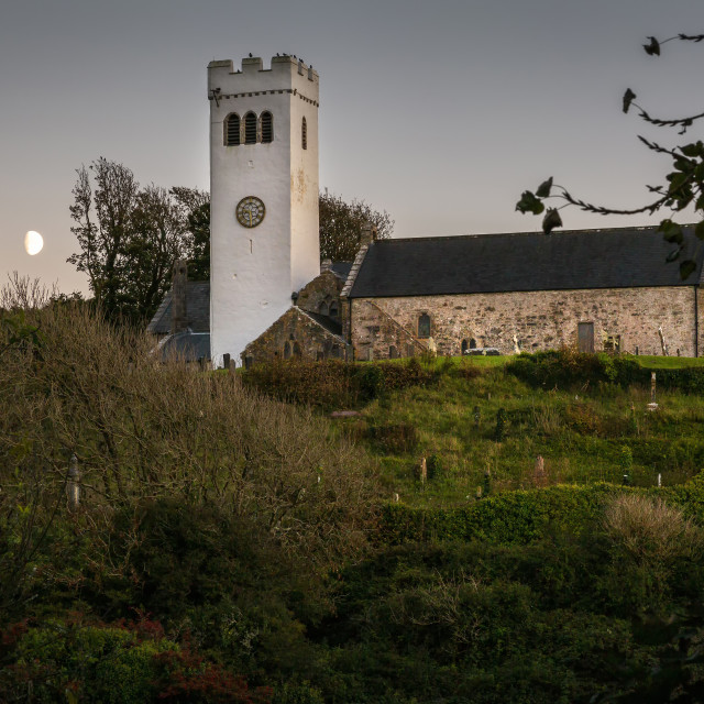"""St James's Church in Manorbier"" stock image"