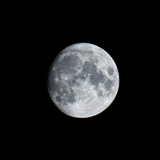 """""""Waxing Gibbous Moon."""" stock image"""