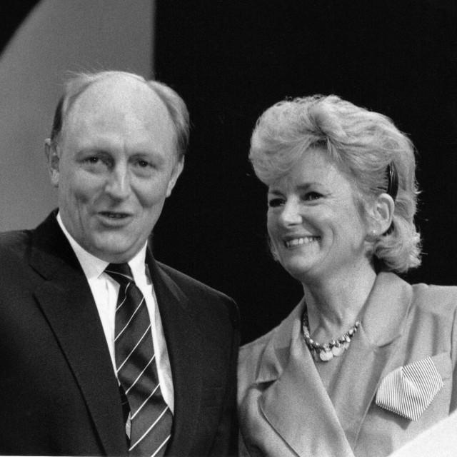 """""""Neil and Glenys Kinnock"""" stock image"""