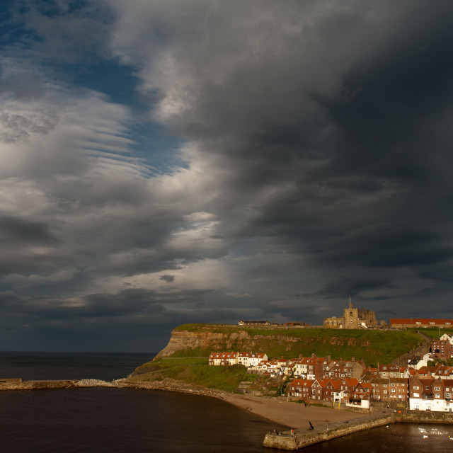 """""""Whitby, East Cliff"""" stock image"""