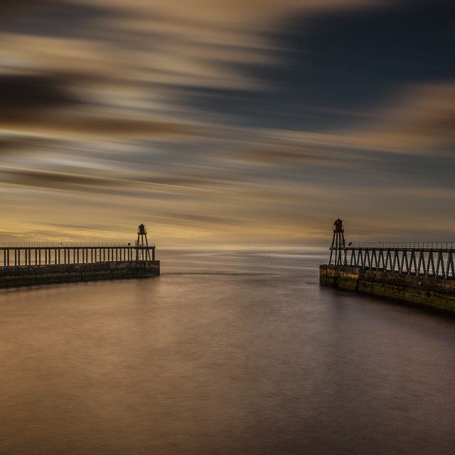 """""""Whitby Harbour, North Yorkshire Coast"""" stock image"""