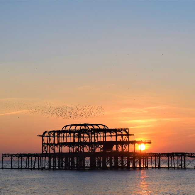 """Brighton's West Pier"" stock image"