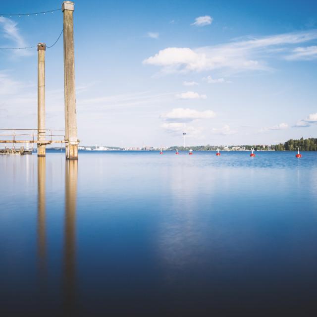 """Lake And Pillars"" stock image"