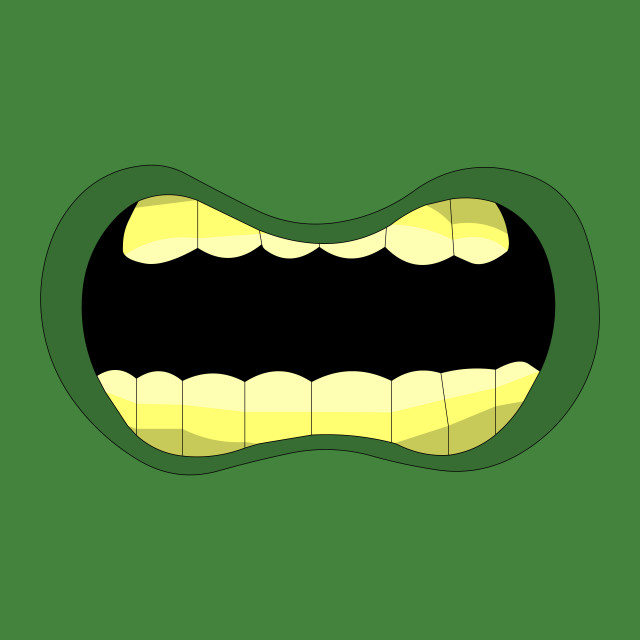 """""""Zombie mouth"""" stock image"""