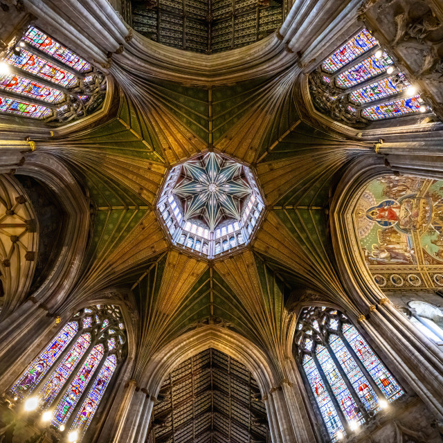 """""""The Octagon Tower, Ely Cathedral, Cambridgeshire UK."""" stock image"""