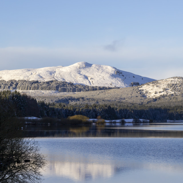"""Carron Valley Reservoir in the winter"" stock image"
