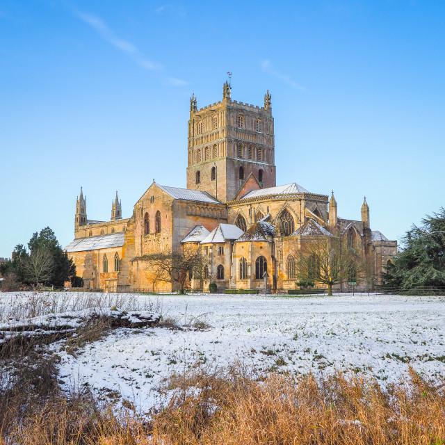 """""""Tewkesbury Abbey"""" stock image"""