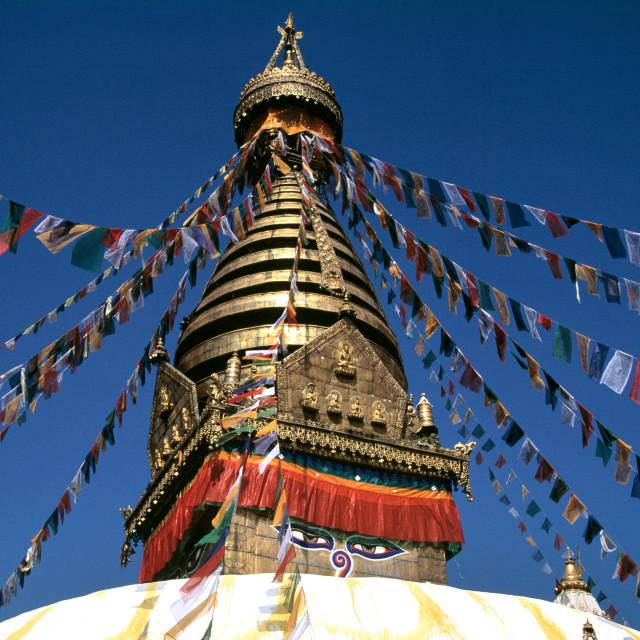 """The Swayambunath Temple"" stock image"