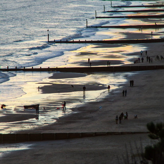 """The Beach at Dusk"" stock image"