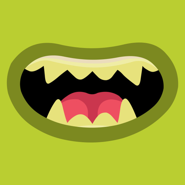 """""""Monsters mouth"""" stock image"""