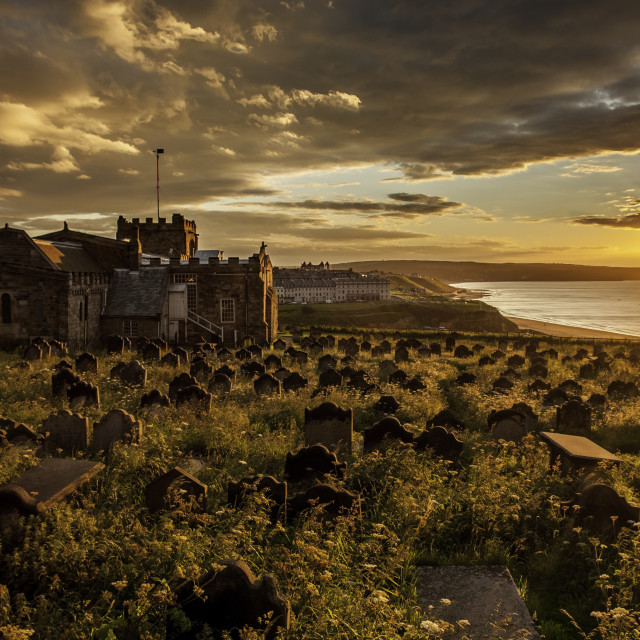 """""""St Mary's Church, Whitby"""" stock image"""