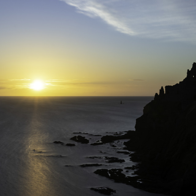 """Tantallon Dawn"" stock image"