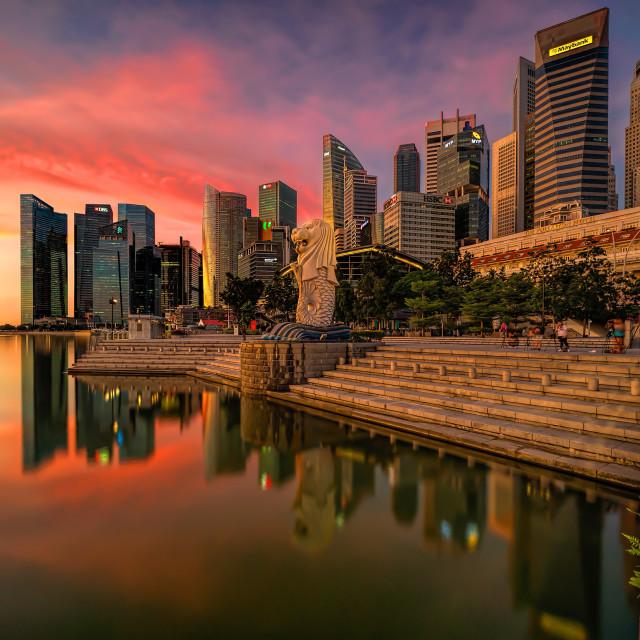 """The Singapore Icon"" stock image"