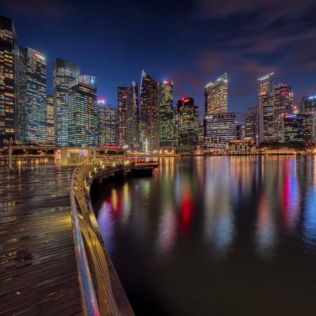 """""""The Singapore Skyline"""" stock image"""