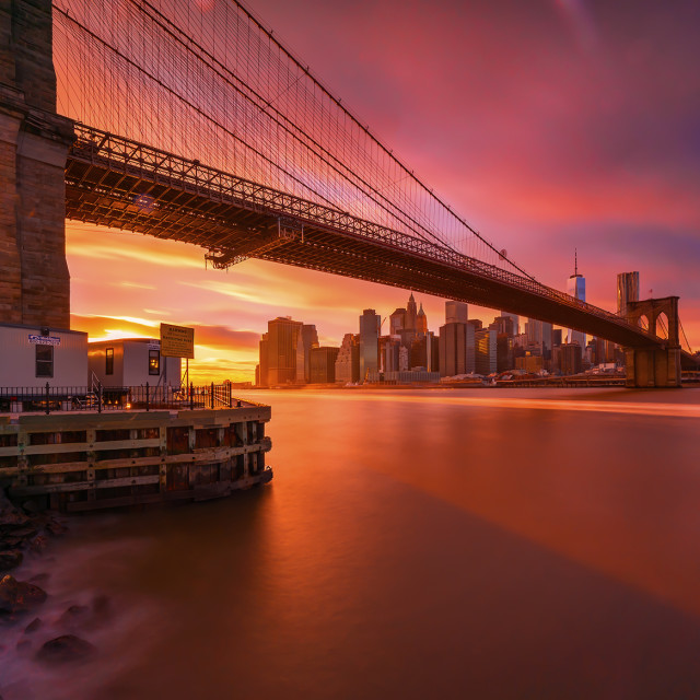 """Sunset at Brooklyn"" stock image"