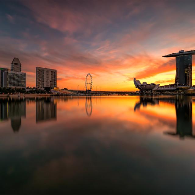 """""""Lakefront sunrise"""" stock image"""