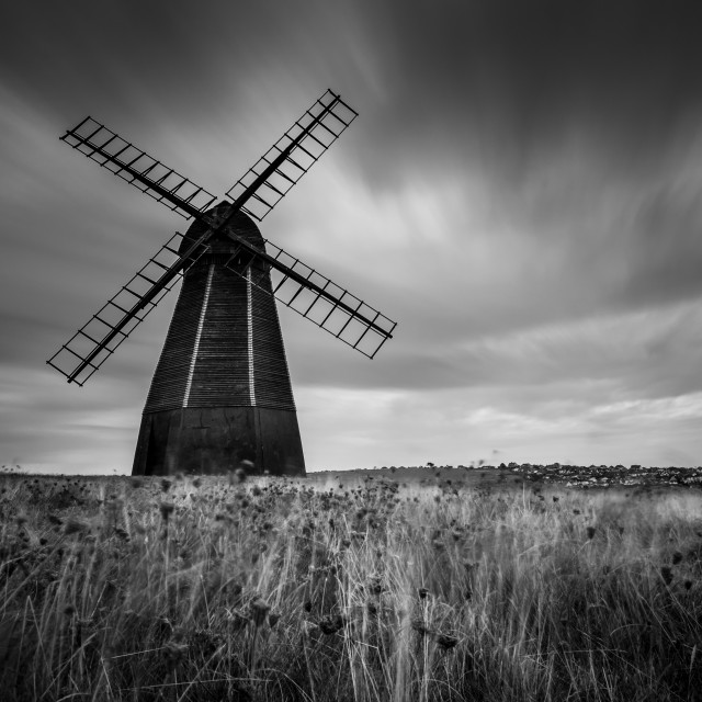 """Beacon Mill, Rottingdean"" stock image"