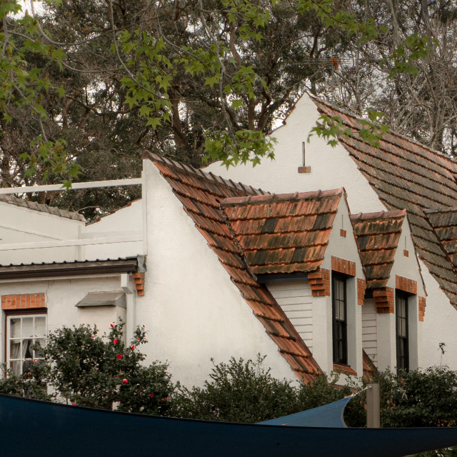 """""""Old houses in Beecroft, Sydney"""" stock image"""