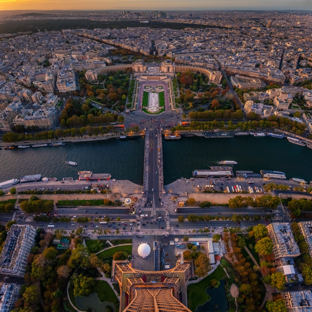 """Paris city view from Eiffel tower"" stock image"