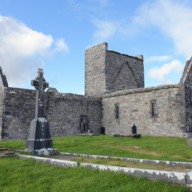 """""""Burrishoole Abbey, Co. Mayo"""" stock image"""