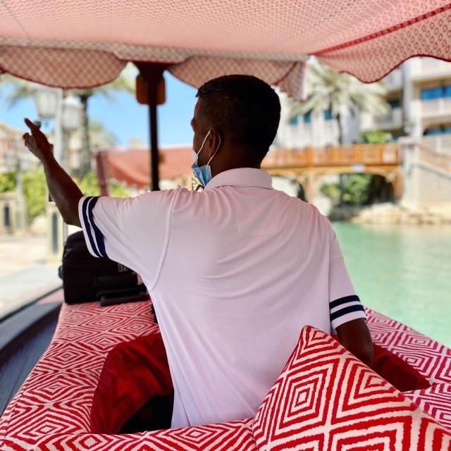 """""""Abra boat ride in Dubai"""" stock image"""