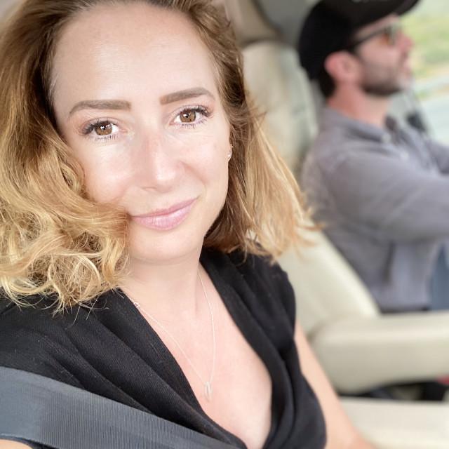 """couple roadtrip"" stock image"