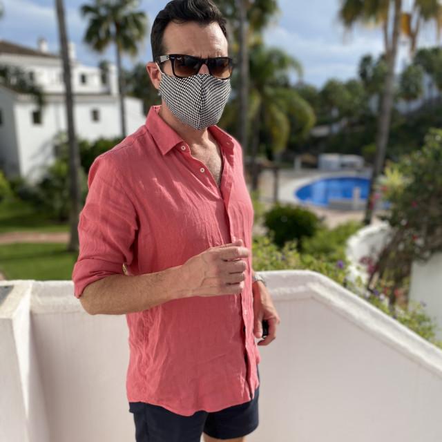 """""""Man wearing mask"""" stock image"""