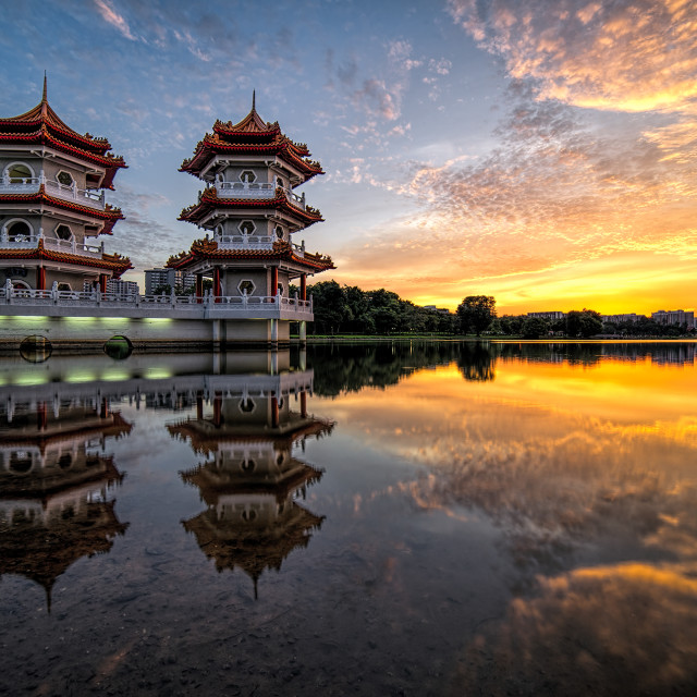 """The Chinese Garden"" stock image"