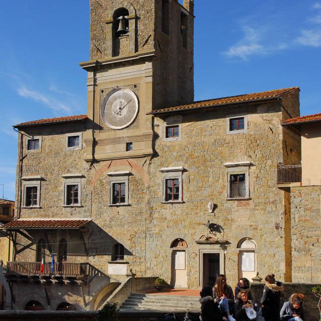 """Cortona townhall"" stock image"