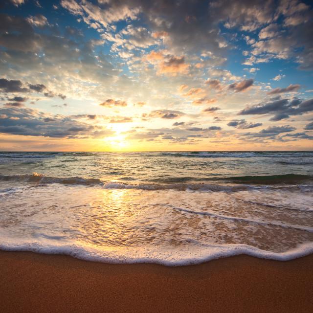 """""""Beautiful sunrise over the sea"""" stock image"""