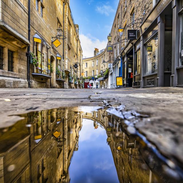 """""""Rose Crescent Reflections, Cambridge UK."""" stock image"""