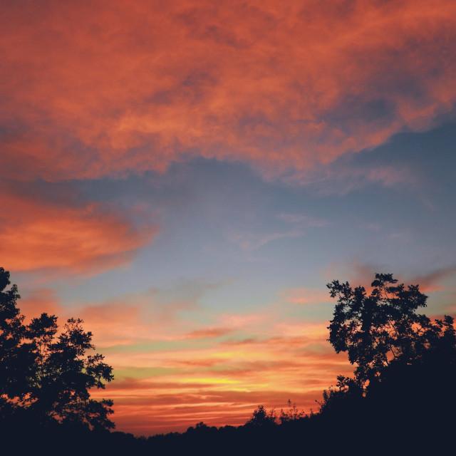 """South Carolina October Sunset"" stock image"