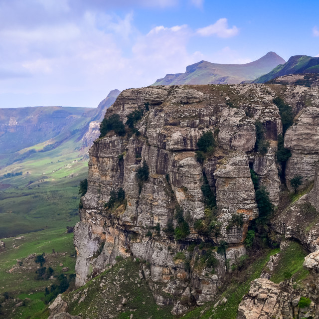 """Drakensberg panorama"" stock image"