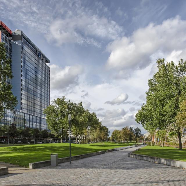 """""""Delft campus in autumn"""" stock image"""