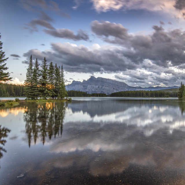 """Two Jack Lake"" stock image"