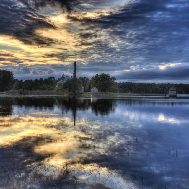 """Sunset at waterworks 3"" stock image"