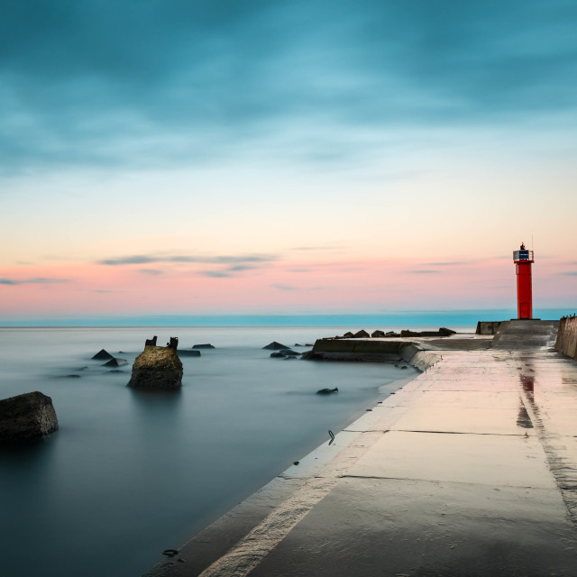"""""""Pier in the morning"""" stock image"""