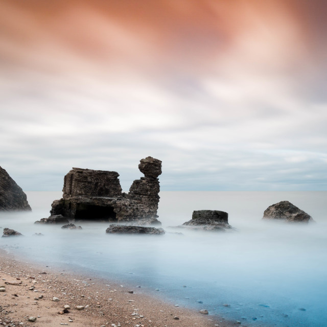 """""""Ruins in the sea"""" stock image"""