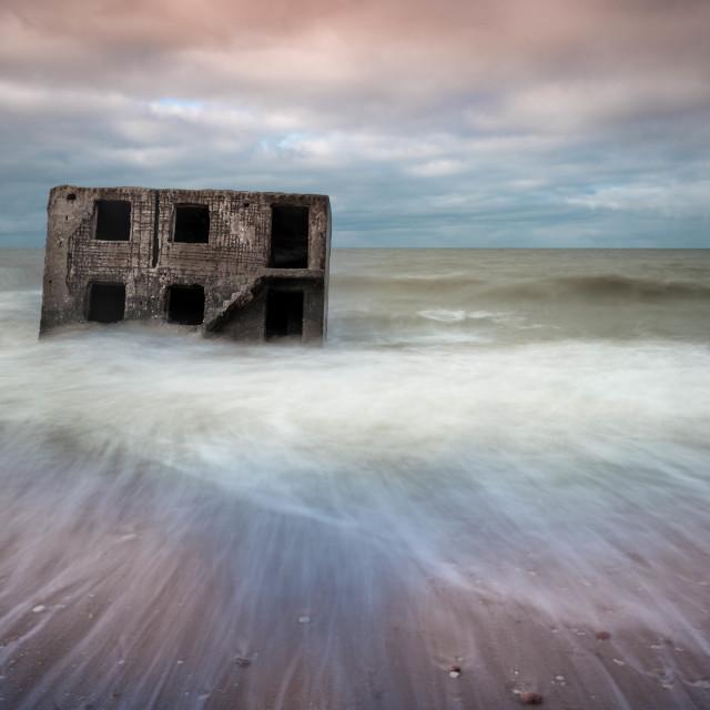 """""""House ruins at sea"""" stock image"""