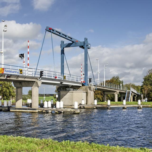 """""""Bridge across the river Schie"""" stock image"""