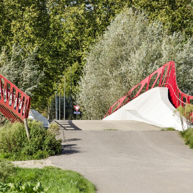 """Symbio bridge in Delft"" stock image"