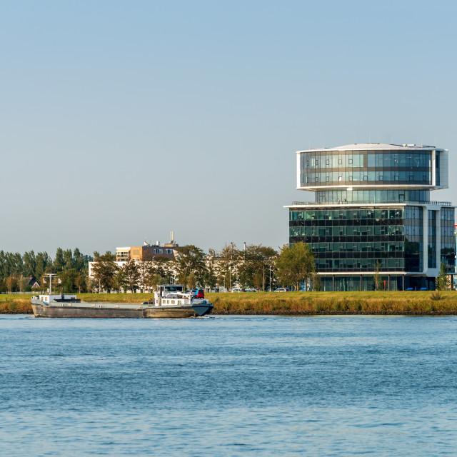 """""""Fokker Head Office Between Dordrecht And Papendrecht"""" stock image"""