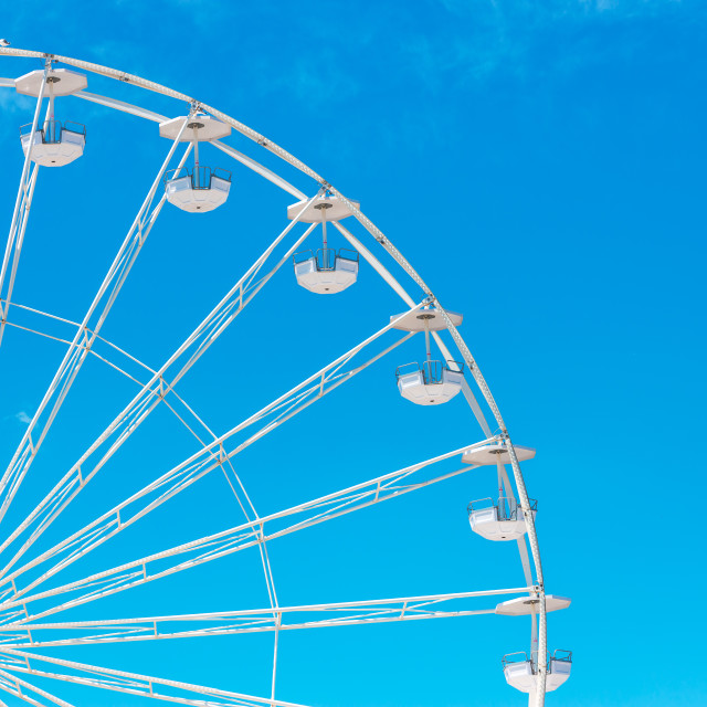 """""""Ferris Wheel with Blue Sky and clouds"""" stock image"""