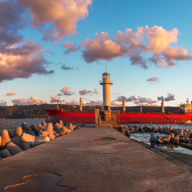 """""""The lighthouse in Varna, Bulgaria"""" stock image"""