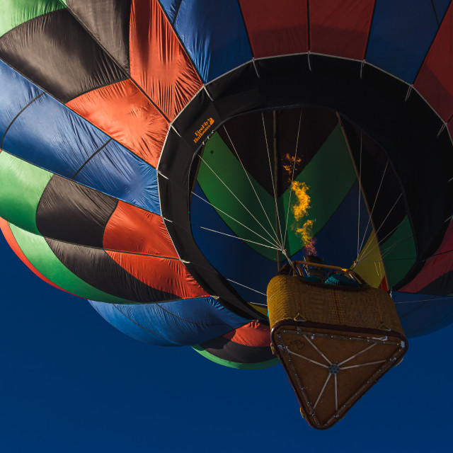 """Hot Air Ballon from Below"" stock image"