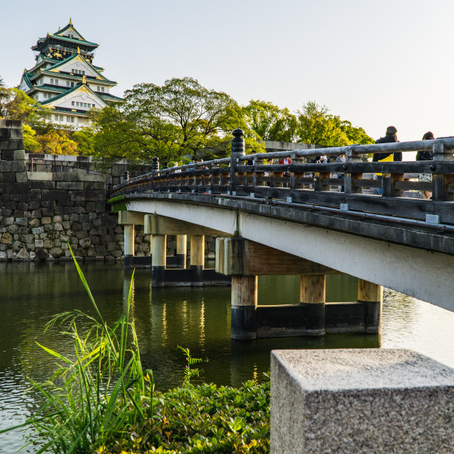 """Bridge Entering into Osaka Castle Grounds"" stock image"
