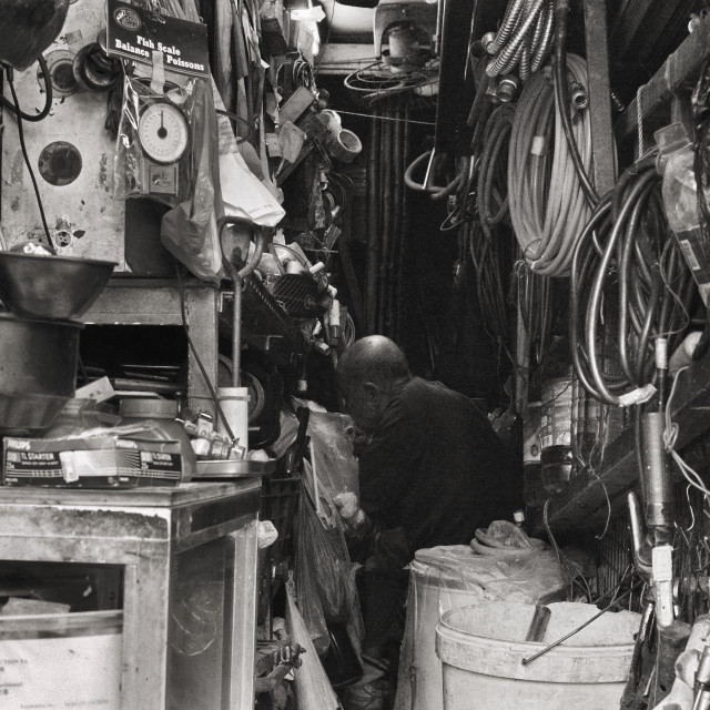 """""""Machinist in Hong Kong"""" stock image"""